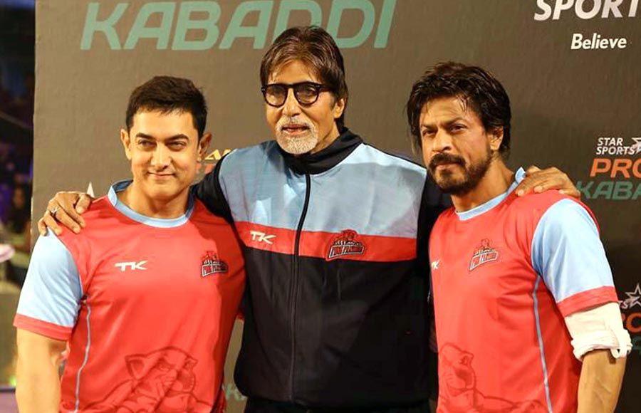 Aamir Khan, Amitabh Bachchan and Shahrukh Khan