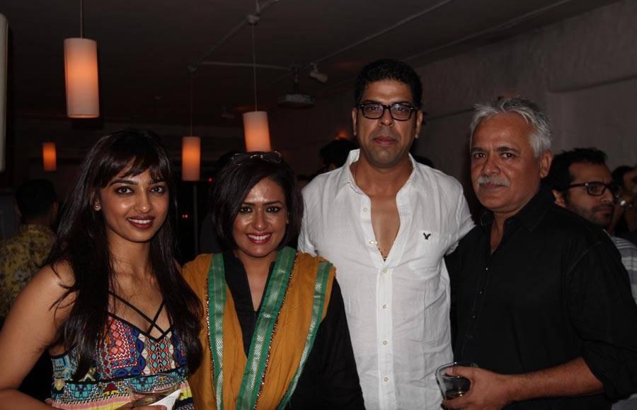 Varun Dhawan, Huma Qureshi, producer Dinesh Vijan , Nargis Fakhri and Divya Dutta