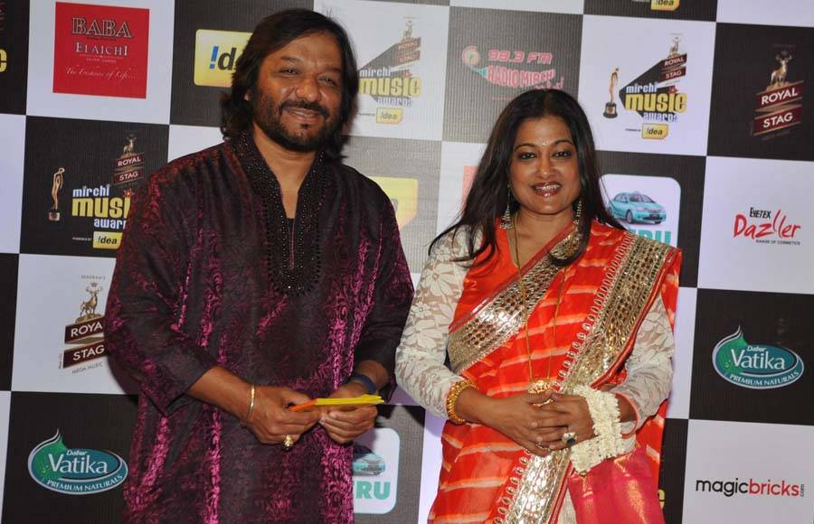 Music composer Loy Mendonsa and singer Shankar Mahadevan along with his son and singer Siddharth Mahadevan