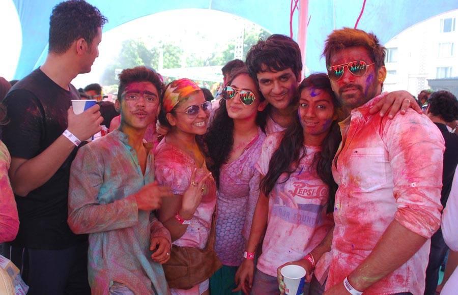 Apoorva Agnihotri with wife Shilpa Saklani, Kushal Tandon & Kamya Punjabi