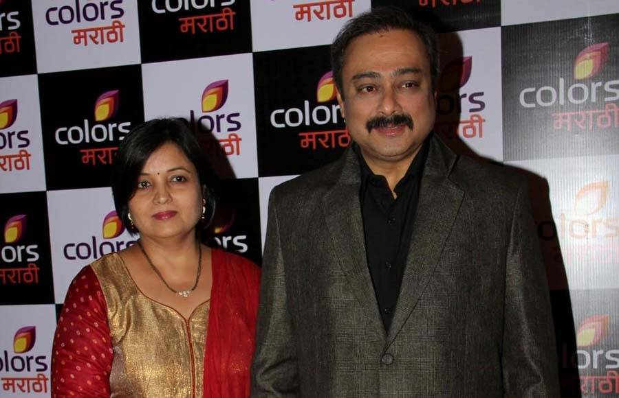 Sachin Khedekar with his wife