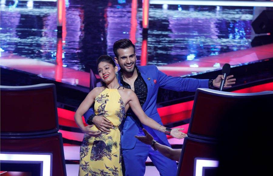 Sunidhi Chauhan and Karan Tacker