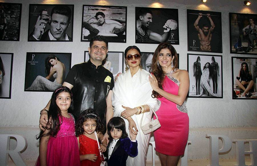 Daboo Ratnani and family with Rekha