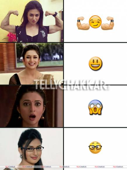 TV beauties and their emoticon faces