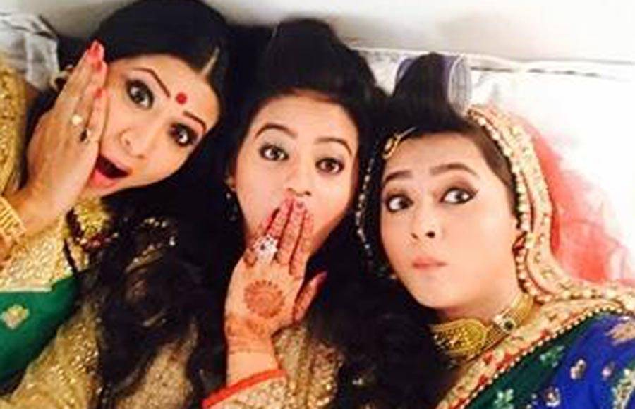 Gopi with Meera and Vidya