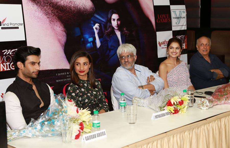 Press conference of film Love Games