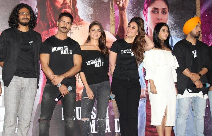 Shahid Kapoor, Alia Bhatt, Kareena Kapoor Khan and Diljit Dosanjh
