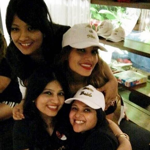 Bipasha Basu with her friends
