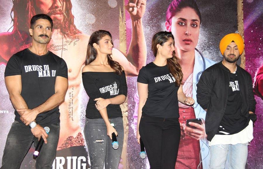 Shahid Kapoor, Alia Bhatt and Kareena Kapoor Khan