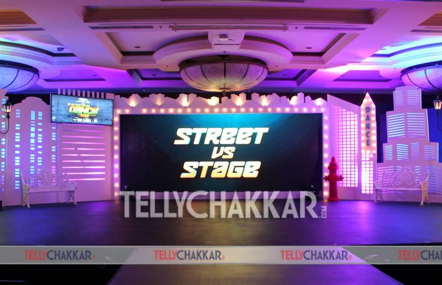 Abhishek Rege (COO, Endemol Shine) Rajesh Iyer (Business Head, &TV), Terence Lewis, Madhuri Dixit, Bosco Martis, Mouni Roy and Rithvik Dhanjani