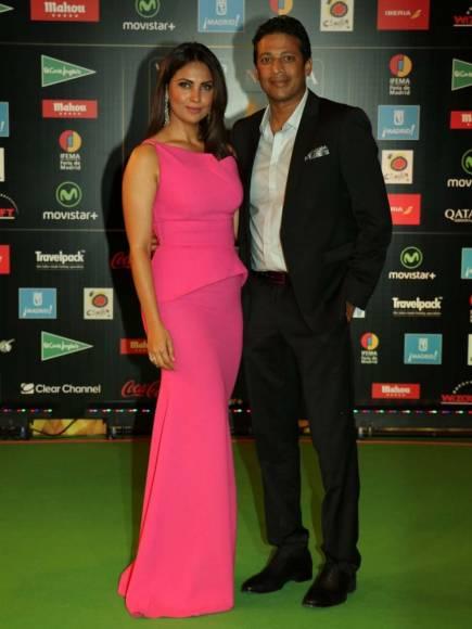Lara Dutta with husband Mahesh Bhupathi