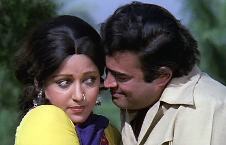 Hema Malini and Sanjeev Kumar
