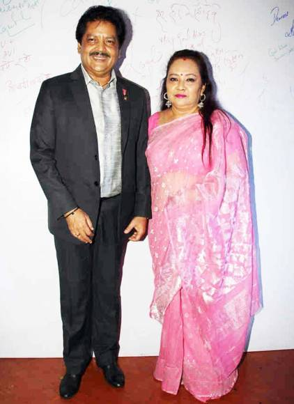 Singer Udit Narayan with his wife