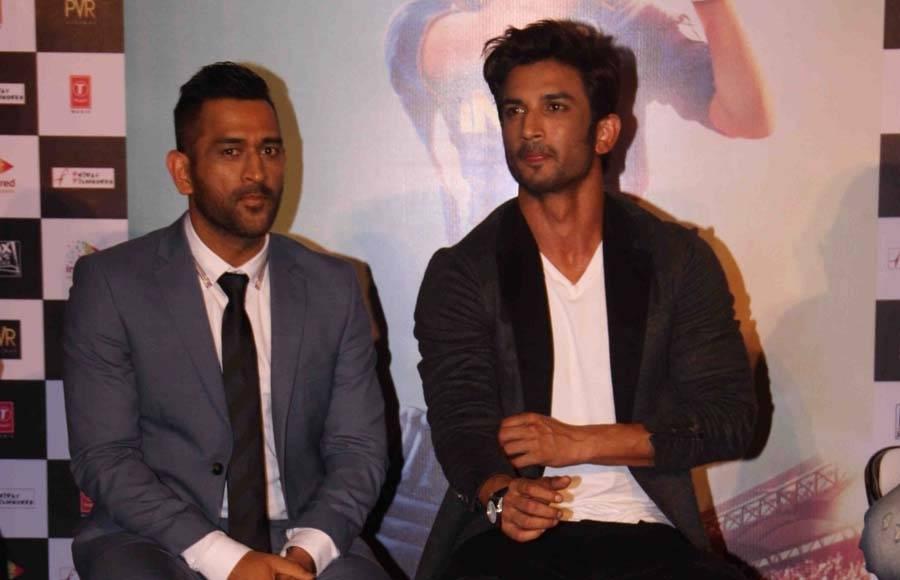 Mahendra Singh Dhoni and Sushant Singh Rajput