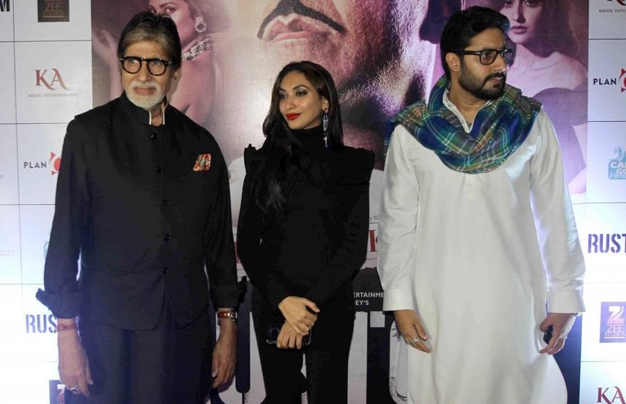Abhishek Bachchan, Akshay Kumar and Amitabh Bachchan