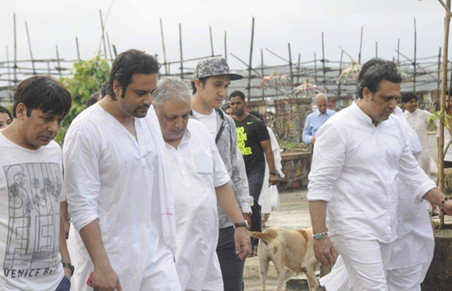 Celebs at Krushna Abhishek's father's funeral