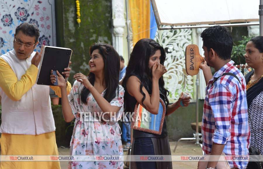 On the sets of Star Plus' Yeh Rishta Kya Kehlata Hai
