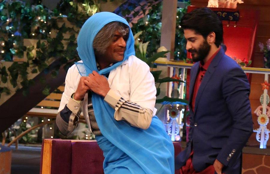Mirzya cast and Anil Kapoor in The Kapil Sharma Show