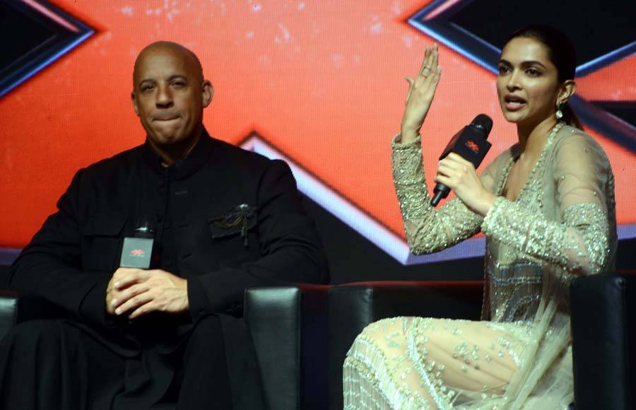 Vin Diesel and Deepika Padukone at 'xXx' press conference