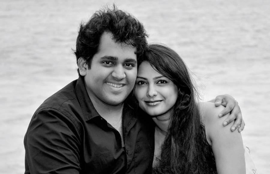 Rucha Hasabnis with her hubby Rahul Jagdale