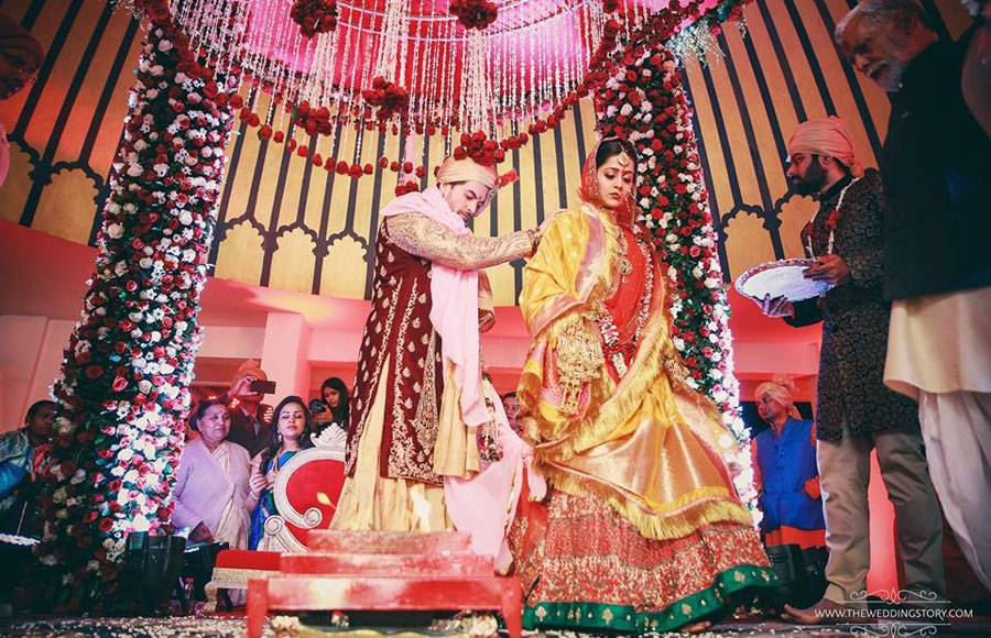Wedding pics of Neil and Rukmini