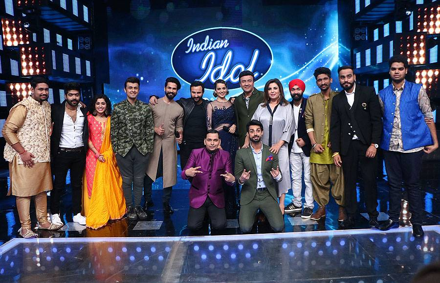 'Rangoon' cast on the sets of Indian Idol 9