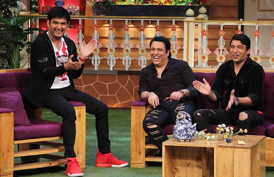 Govinda and Shakti Kapoor on The Kapil Sharma Show