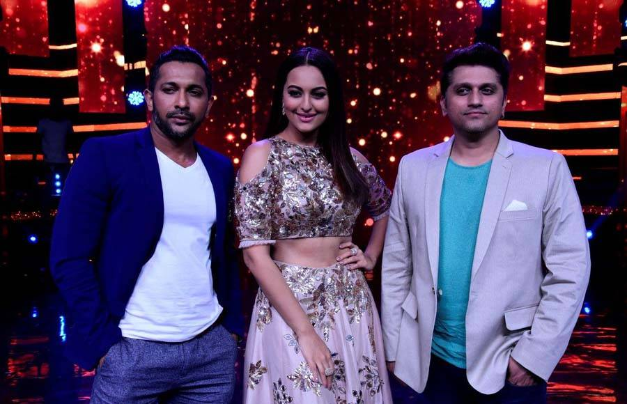 Nach Baliye judges - Terence Lewis, Sonakshi Sinha and Mohit Suri