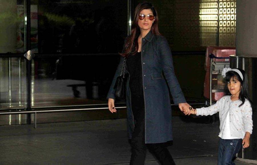 Twinkle Khanna and her daughter