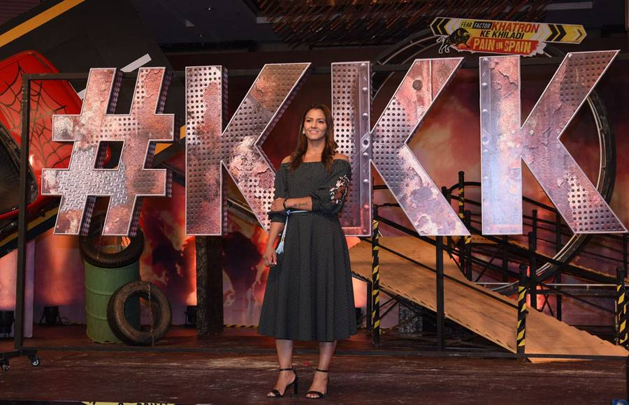 Geeta Phogat at the launch of Khatron Ke Khiladi