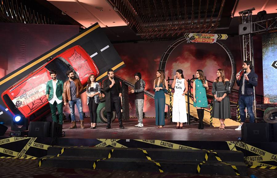 Manveer Gurjar and Hina Khan perform at the launch of Khatron Ke Khiladi