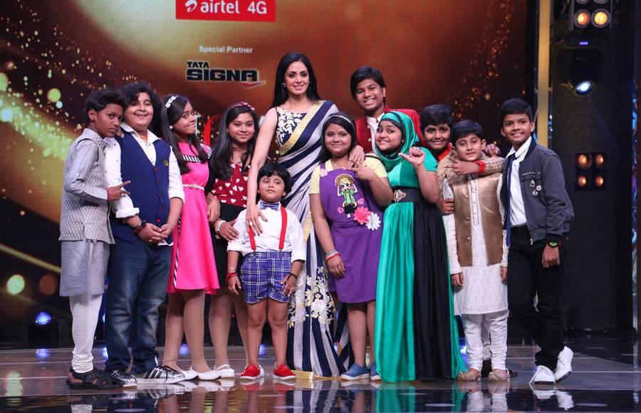 Sridevi and AR Rahman in Zee TV's Sa Re Ga Ma Pa