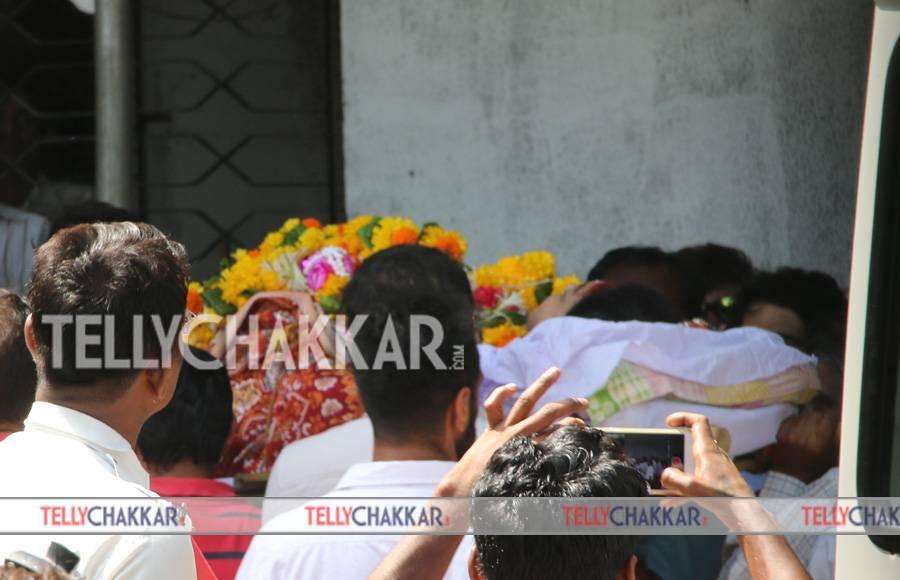 Celebs at Reema Lagoo's funeral