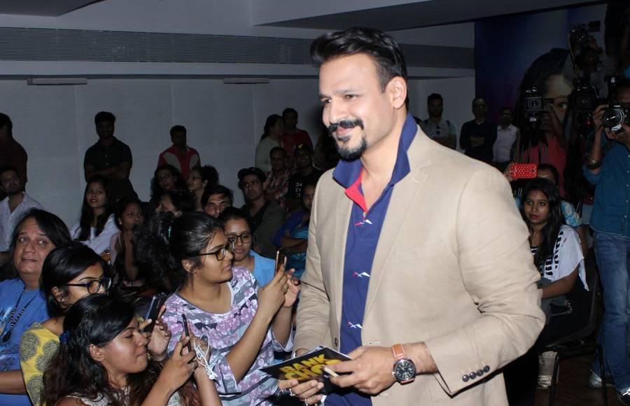 Vivek Oberoi, Riteish Deshmukh & Rhea Chakraborty_Promotional Event of Bank Chor