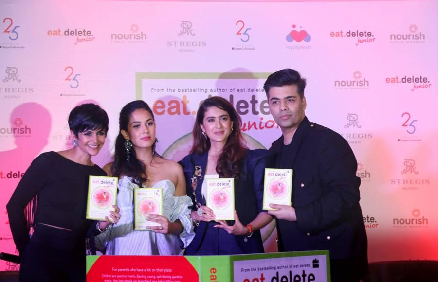 Mandira Bedi, Mira Rajput,Pooja Makhija & Karan Johar launches Pooja Makhija's book 'Eat Delete Junior'