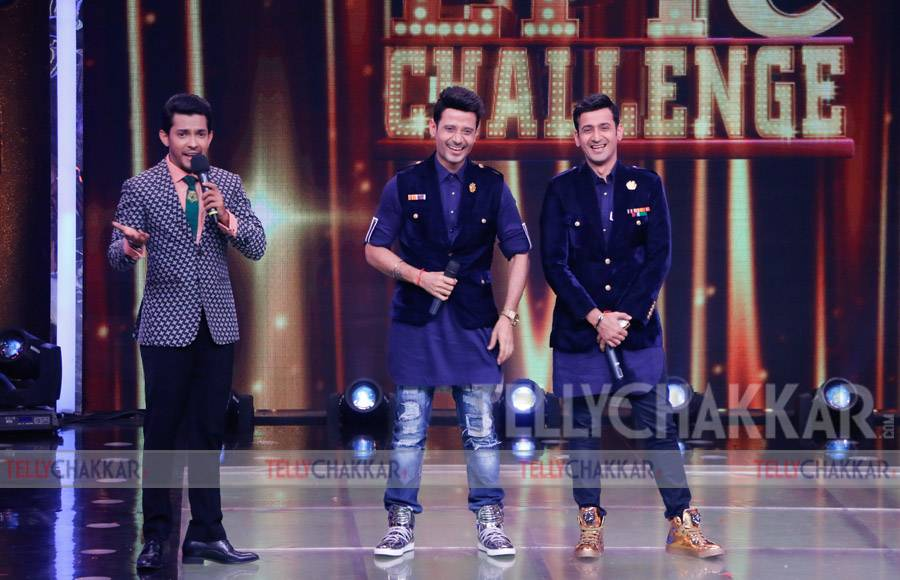 Meet Bros on the sets of Sa Re Ga Ma Pa Li'l champs