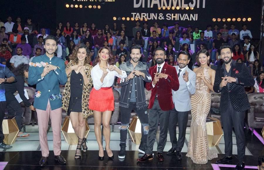 Raghav Juyal, Taapsee Pannu, Jacqueline Fernandez, Varun Dhawan, Remo D'souza, Dharmesh Yelande, Shakti Mohan and Punit Pathak