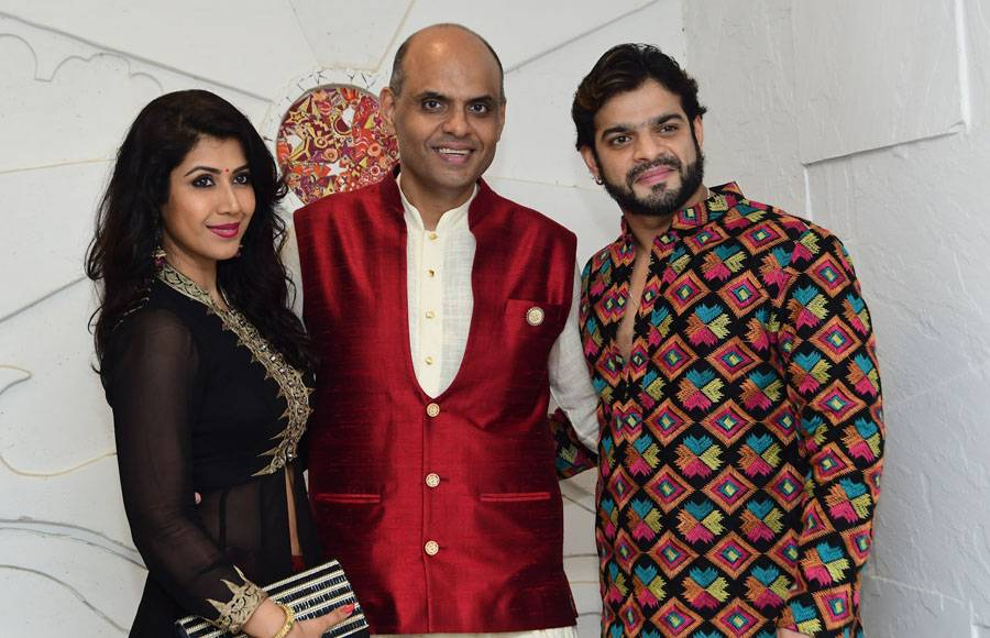 Ankita, Sandiip and Karan Patel