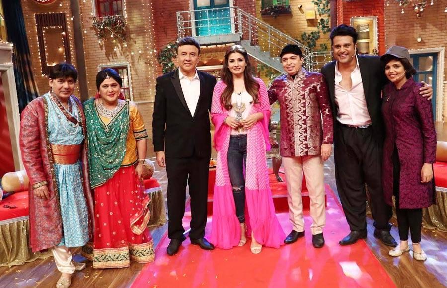 Sudesh Lehri, Ali Asgar, Anu Malik, Raveena Tandon, Altaf Raja, Krishna Abhishek & Sugandha Mishra