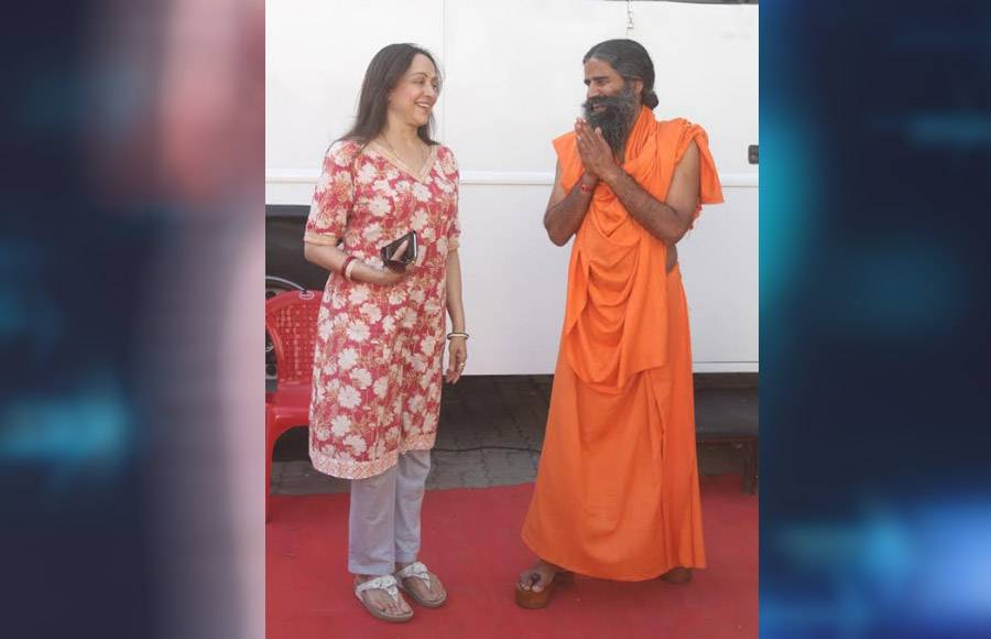 Hema Malini and Swami Ramdev grace Dance India Dance