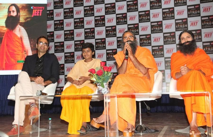 When 'Real' and 'Reel' Swami Ramdev met each other