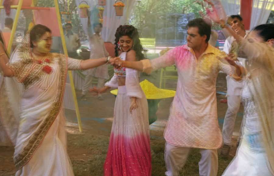 Holi celebrations on the sets of Yeh Rishta