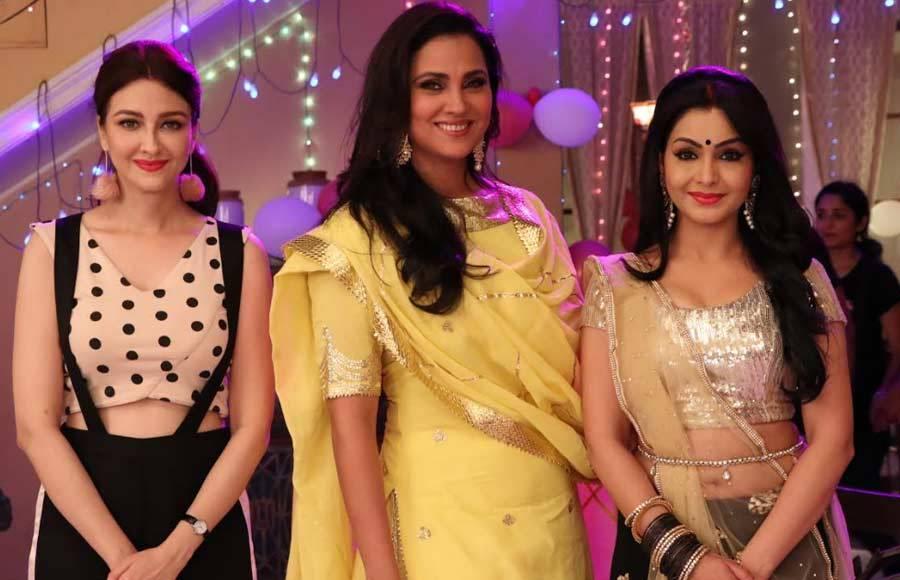 Lara Dutta and Ahmed Khan visit the sets of &TV's Bhabhij