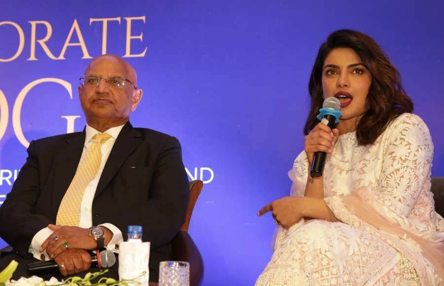 Desi girl Priyanka Chopra at a book launch!