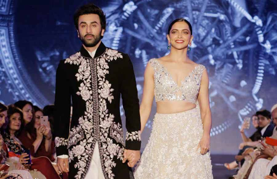 Ex-lovers Ranbir-Deepika walk hand-in-hand for Manish Malhotra