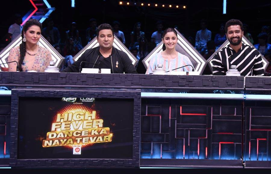 Alia Bhatt and Vicky Kaushal on the sets of &TV's High Fever