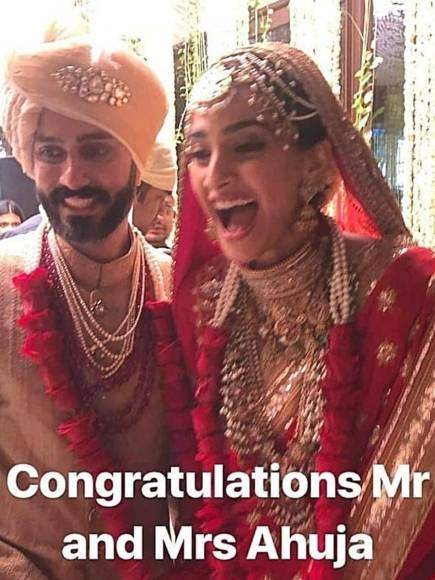 Sonam Kapoor and Anand Ahuja's fairytale wedding