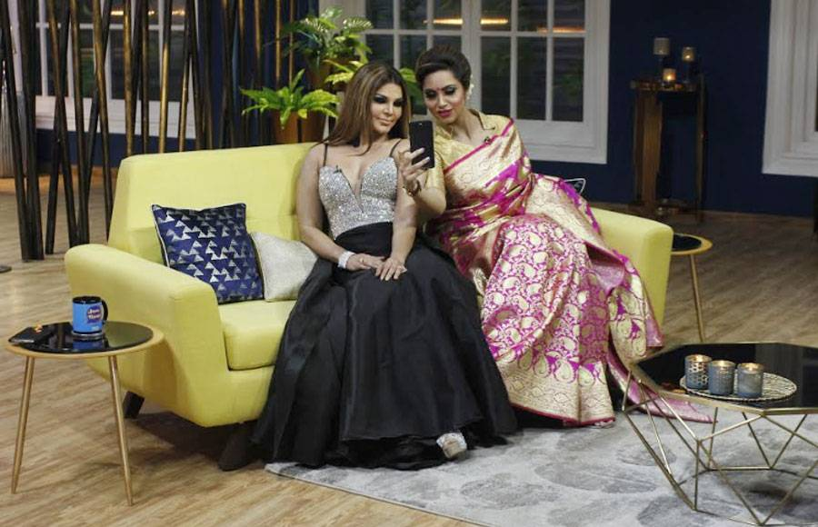 In pics: Rakhi, Arshi, Iqbal & Eijaz have gala time at Zee TV's JuzzBaatt