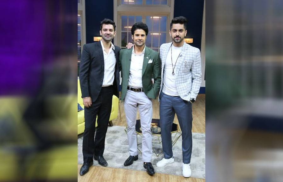 TV hunks Barun Sobti and Zain Imam grace Zee TV's JuzzBaatt