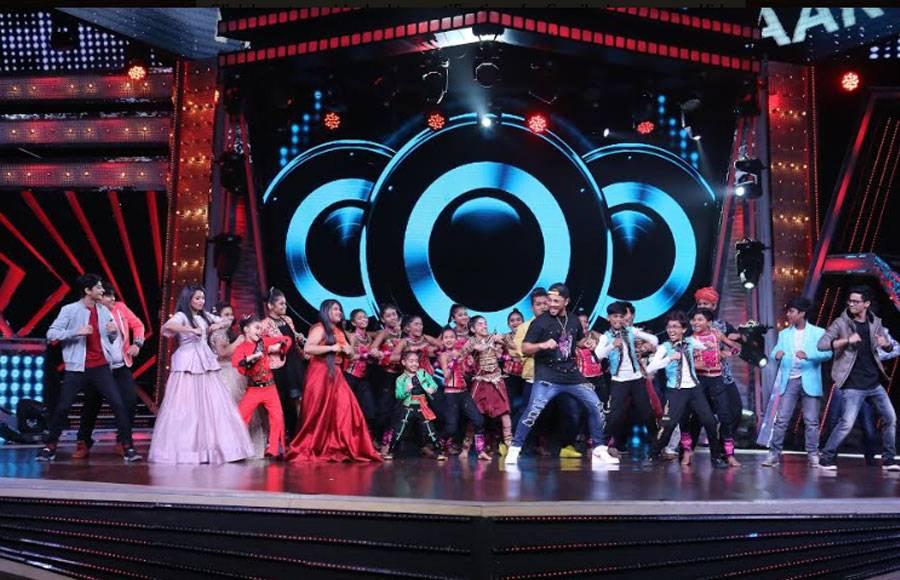 Raftaar on the sets of Zee TV's DID Li'l Masters